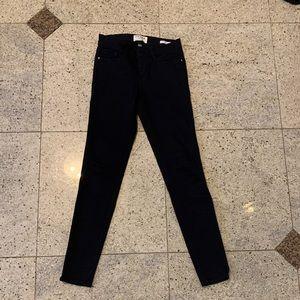 Frame black skinny jeans size 25